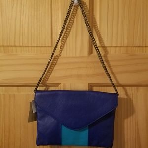NWT Blue J. Crew Factory Envelope Clutch
